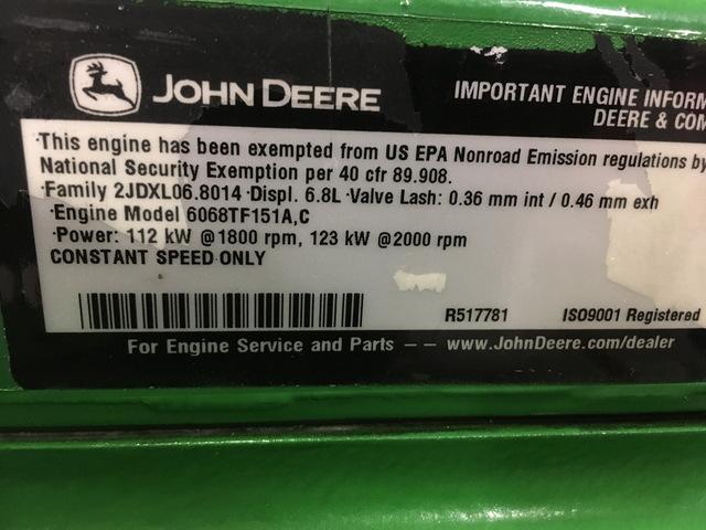Govt  Rebuilt John Deere 6068T Power Tech Diesel Engine