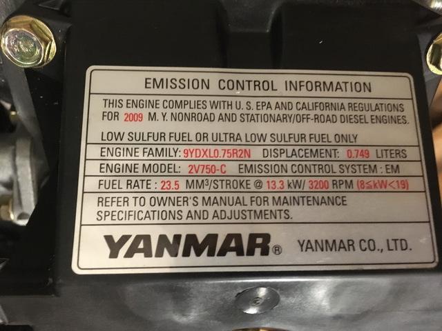 New Yanmar 2V750-C Diesel Engine