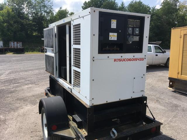 John Deere 4045T-66KW Trailer Mounted Diesel Generator